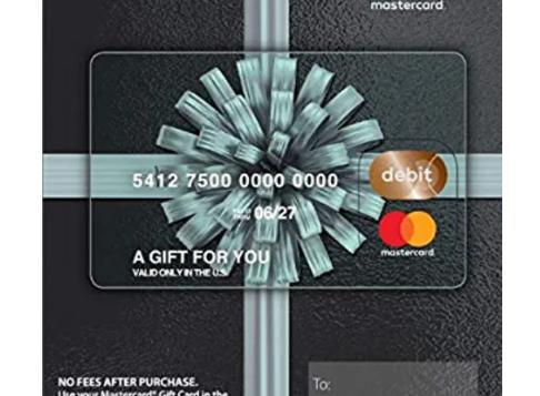 $200 Mastercard Gift Card (plus $6.95 Pu