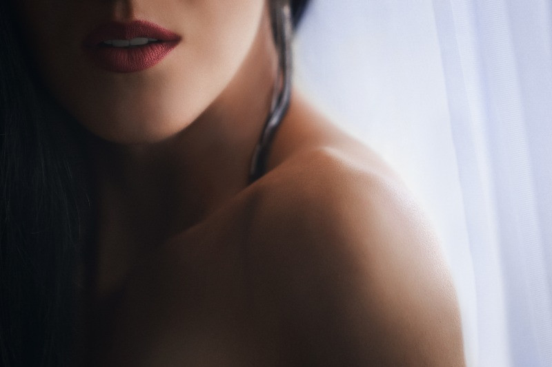 A woman's neck, as well as her collarbone, are not only beautiful to look at. They are also easy to reach and an amazingly effective spot to tease and please. | Her Neck & Collarbone | The 5 Female Pleasure Spots You Need to Know | Dating with Fawn | Philadelphia, PA, USA