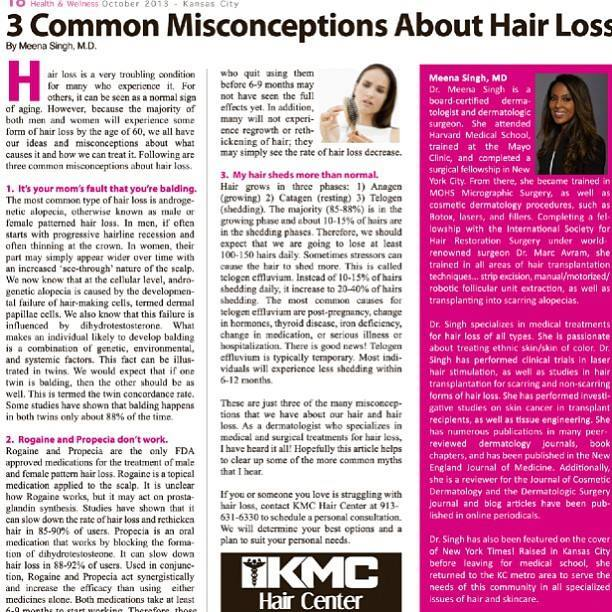 Three Misconceptions About Hair Loss