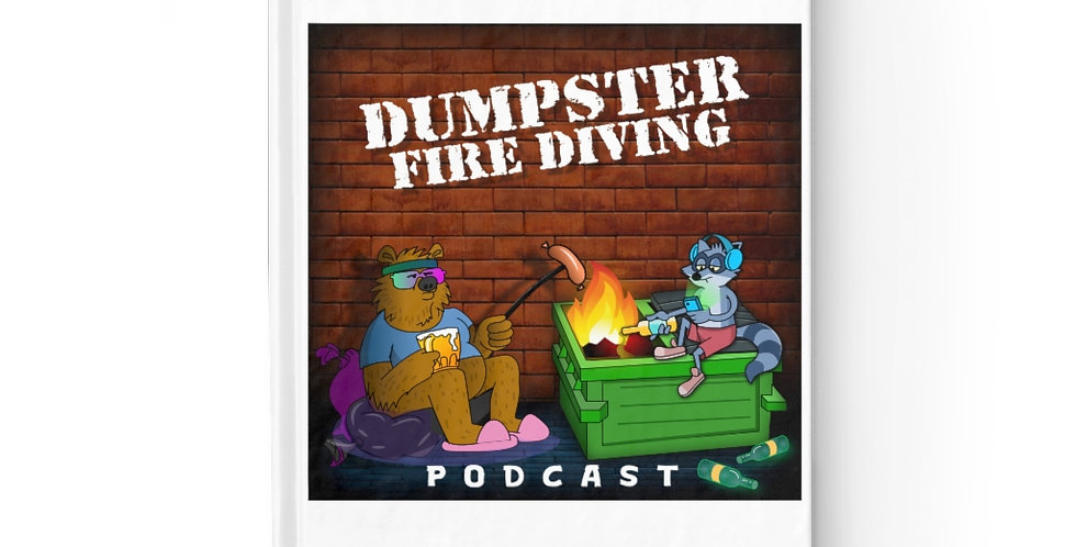 Official Dumpster Fire Diving Podcast™ Ruled Line Journal 2