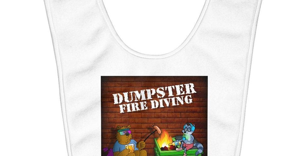 Official Dumpster Fire Diving Podcast™ Fleece Baby Bib