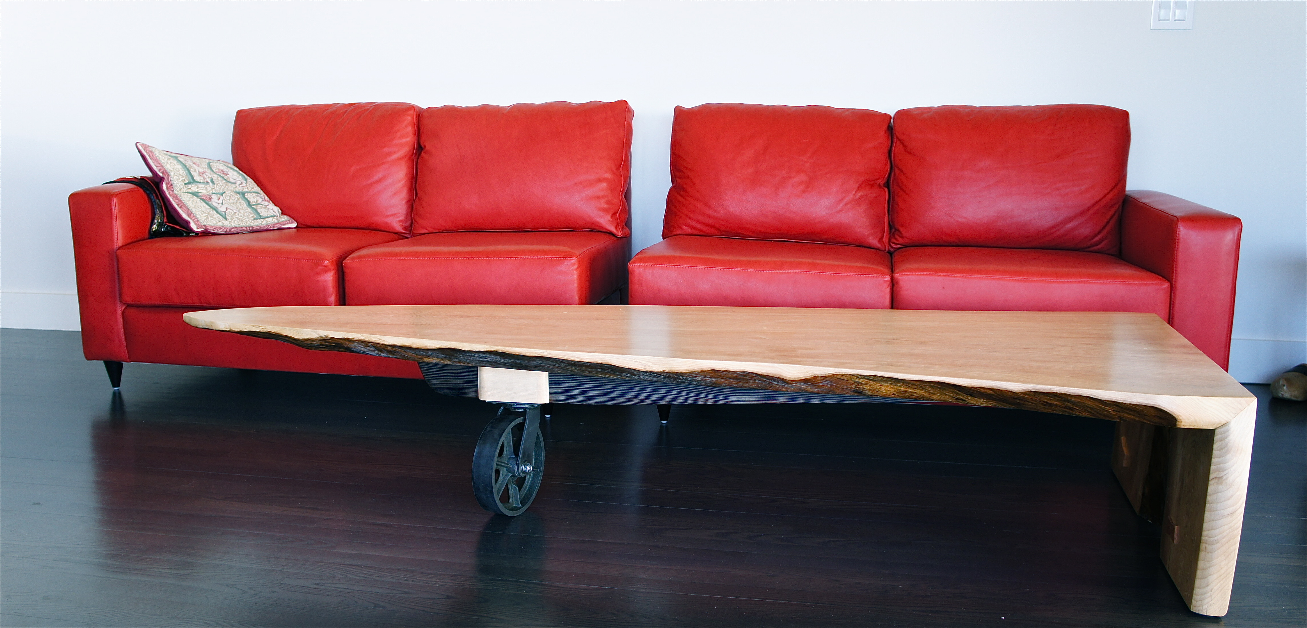 Airplane Wing Coffee Table White Spruce Coffee Table Slab Art Studios