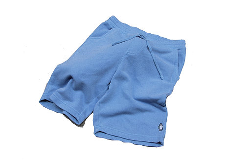 Blue Pigment dyed shorts