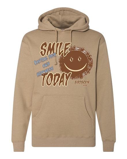 Smile Today Brown Hoodie