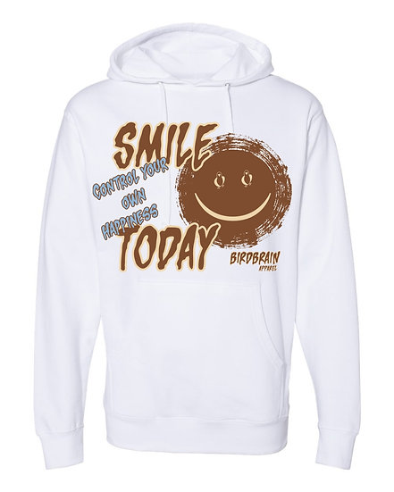 Smile Today White Hoodie