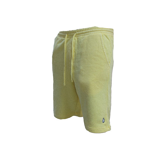 Yellow Pigment dyed shorts