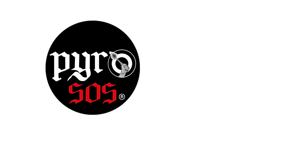 Logo de PyroSOS Organização de eventos fogo de artificio e aluger de som e imagem