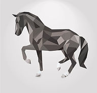 3d_geometric_shapes_horse_creative_vecto