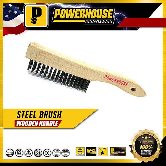Steel Brush w/ Wooden Handle