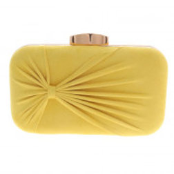 Yellow Suede Evening Bag