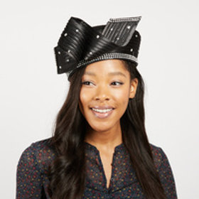 Color:Black Wavy Bow W/Bow
