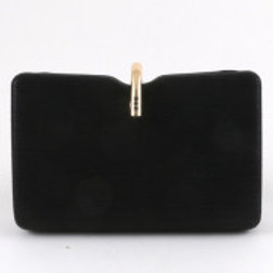 Black Leatherette Clutch Bag.