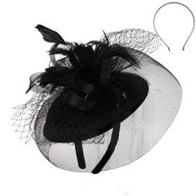 Color: Black Elegant Wedding Fascinator.