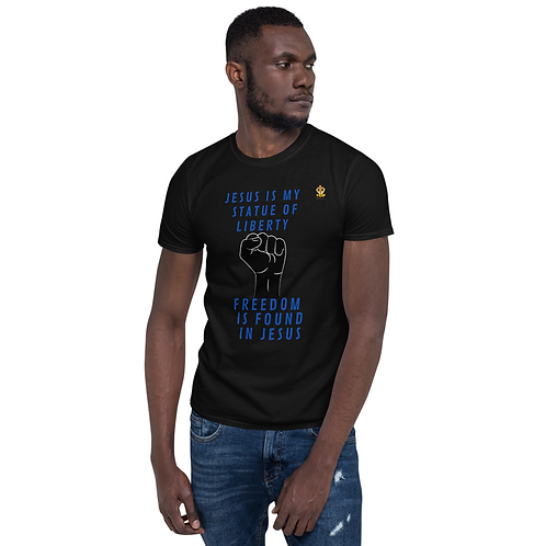 Unisex T-Shirt - Jesus Liberty -Black