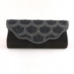 Black Bead Clutch Bag.
