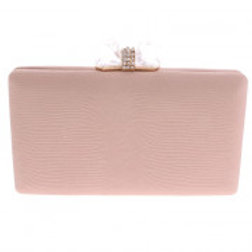 Champagne Leatherette Evening Bag.