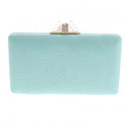 Mint Leatherette Evening Bag.