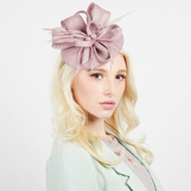 Color: Lv  Woven Loop Feathering Fascinator