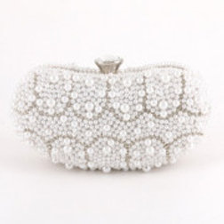 Silver & White  Pearl Evening Bag.