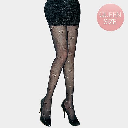 Color: Black Mini Bow Pattern Pantyhose.