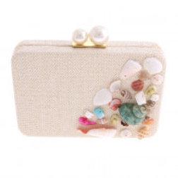 Ivy Pearl Lock Shell Evening Bag.