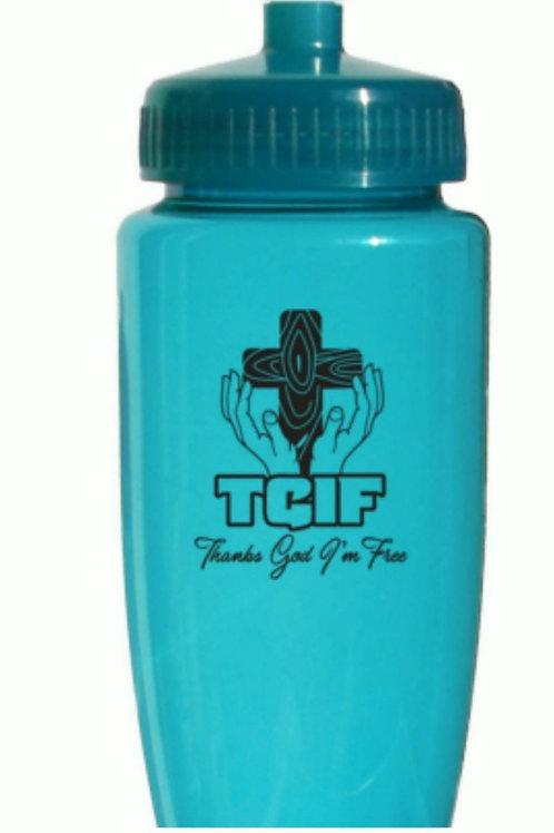 TGIF Water Bottle - Blue
