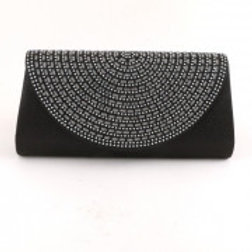 Black Glitter Evening Bag.