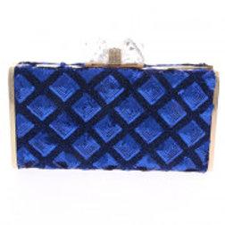 Blue Sequins Evening Bag.