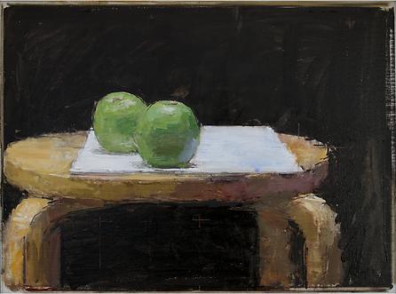 still life art painting apples