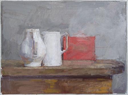Still life art jug painting