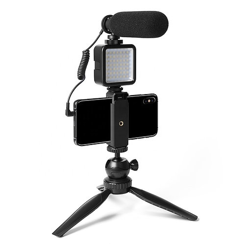 Maono Vlog Microphone c/w LED Light AU-CM11PL