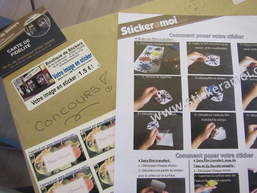 stickeramoi, concours, étiquette personnalisable