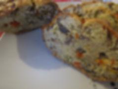 cake légumes, champignon paris, reste du frigo, cake légumes cuie, coupé