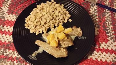 Aiguillettes de canard au pêches et Crozets, cuiisiner crozet