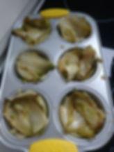 tatin d'endives dans moule à muffins