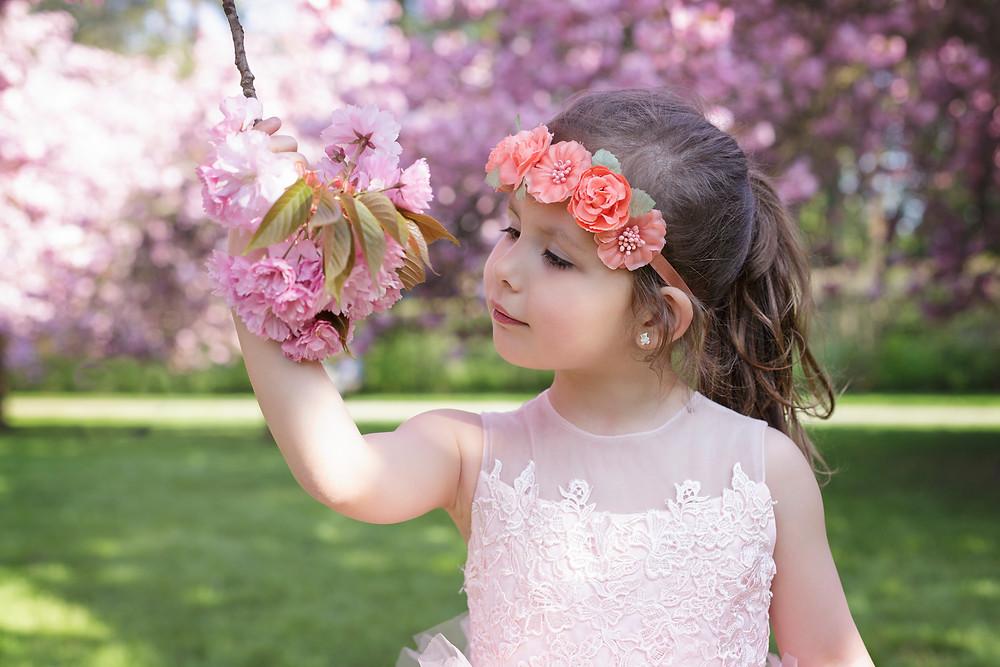 Séance photo, fille, jardin japonais, maman, KARINE MAJET
