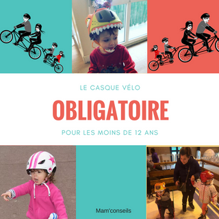 Port obligatoire du casque vélo pour les enfants