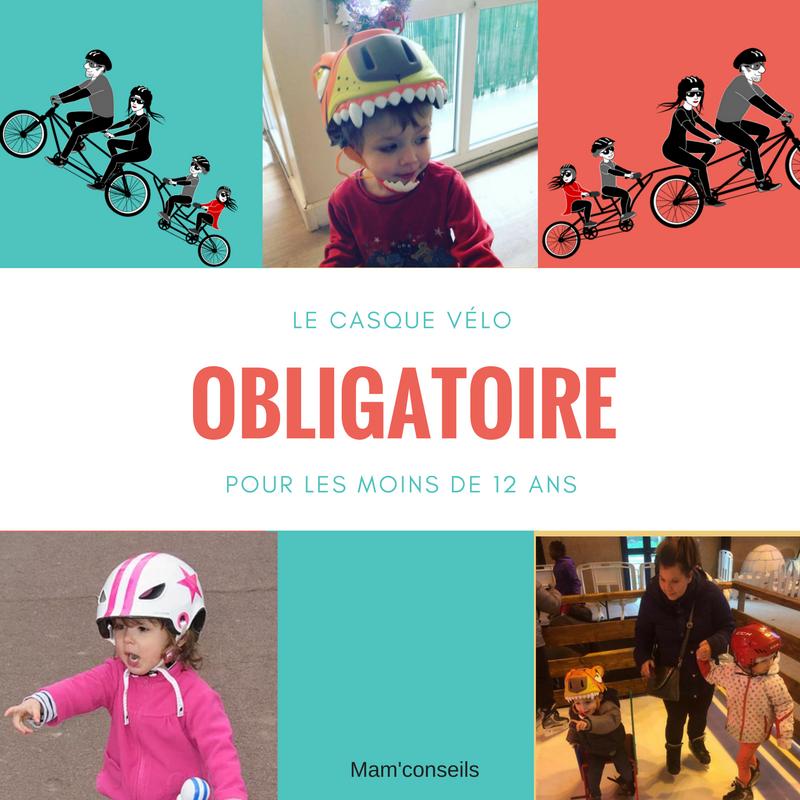 casque obligatoire, enfant, 12 ans, obligation, vélo