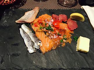 assiette ardoise poisson norvegienne