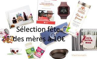 10 cadeaux à moins de 10€ pour la fête des mères