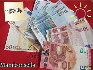 argent, économie, billet, faire économie, consommer, autrement, mam'conseils