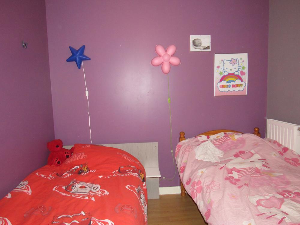 chambre, lumière, chambre partagée, veilleuse enfant