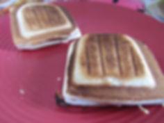 croque monsieur, bacon, gruyère, beurre cacahouete