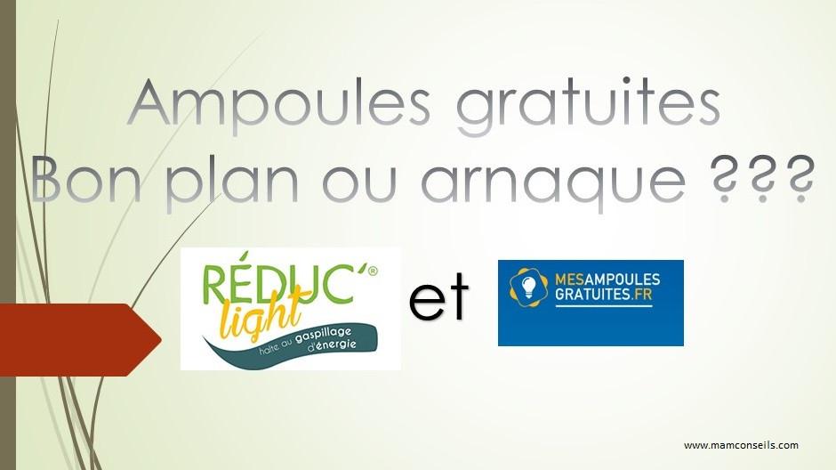 Ampoules LED gratuites Info ou Intox, reduc'light mes ampoules gratuites.fr