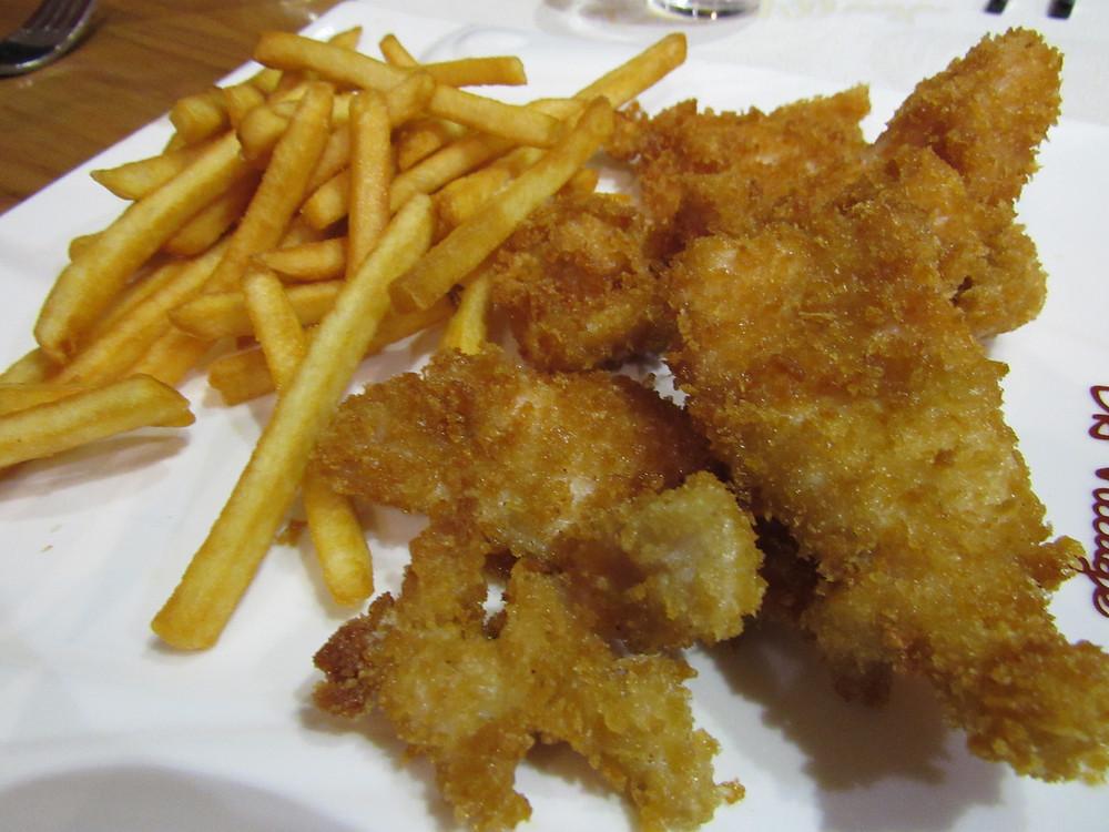 nuggets poulet et fritte maison