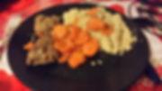 Boeuf, carottes, semoule, bourguignon, cocotte