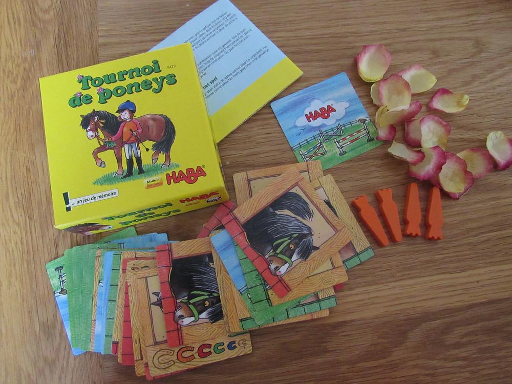 tournoi de poneys, jeu mémoire, haba