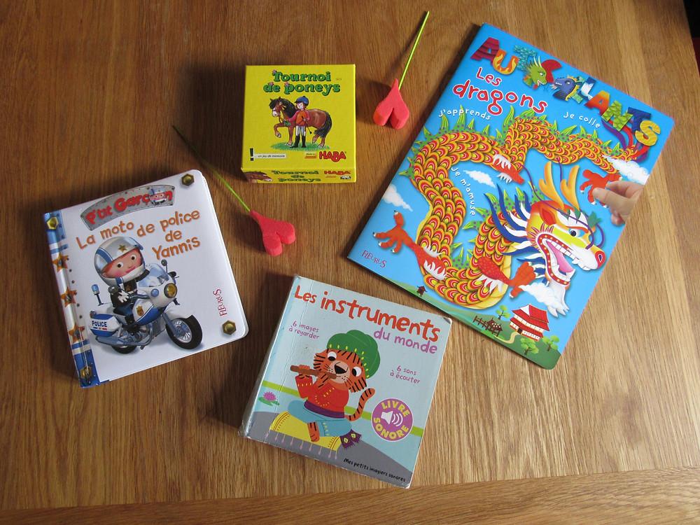Livres à moins de 10€ pour enfant 2 ans, selection, coup de cœur, garçon 2ans, fleurus