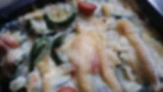 Tartiflette courgette saucisse, light, régime, tartiflette régime, saucisse, reste frigo, courgette original, maigrir