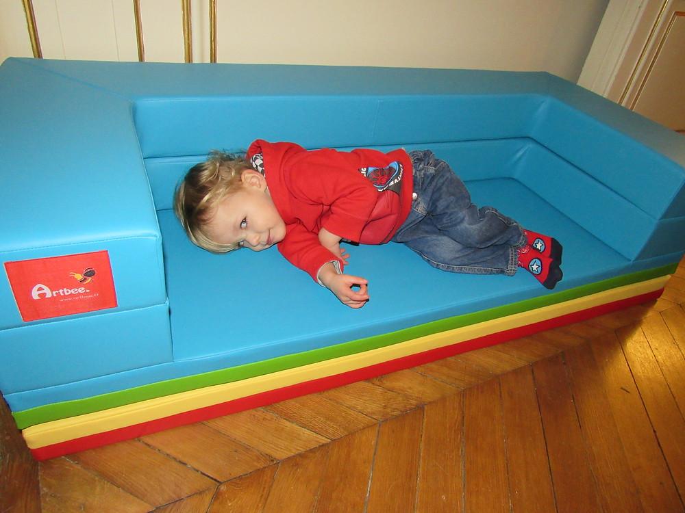 Les produits Artbee, canapé pour enfant modulable